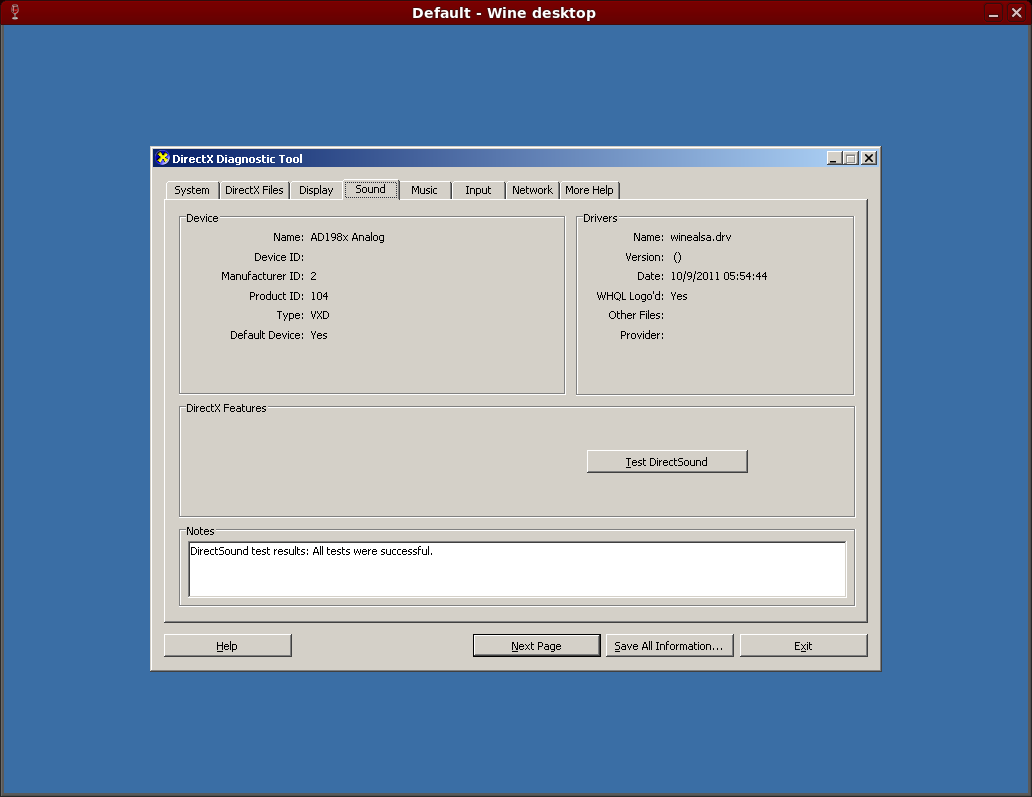 How to test DirectX